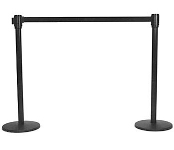 Black Retractable Stanchions