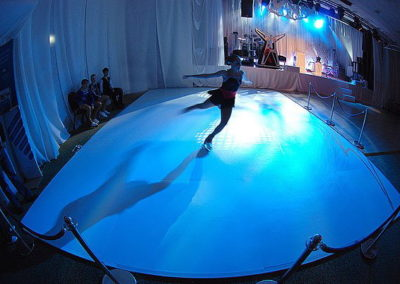 Synthetic Ice Rink with professional, Olympic-experienced champions