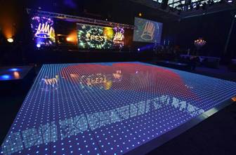 20 x 20 Programable Light Up Dance Floor